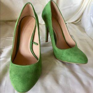 Zara Trafaluc Green Heels